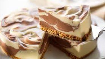 Torta de Queso Marmoleada